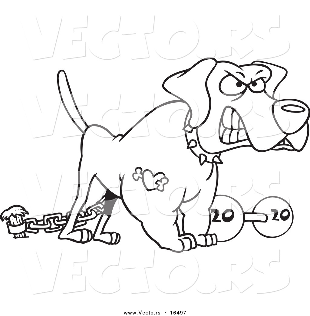 1024x1044 Vector Of A Cartoon Guard Dog With A Dumbbell