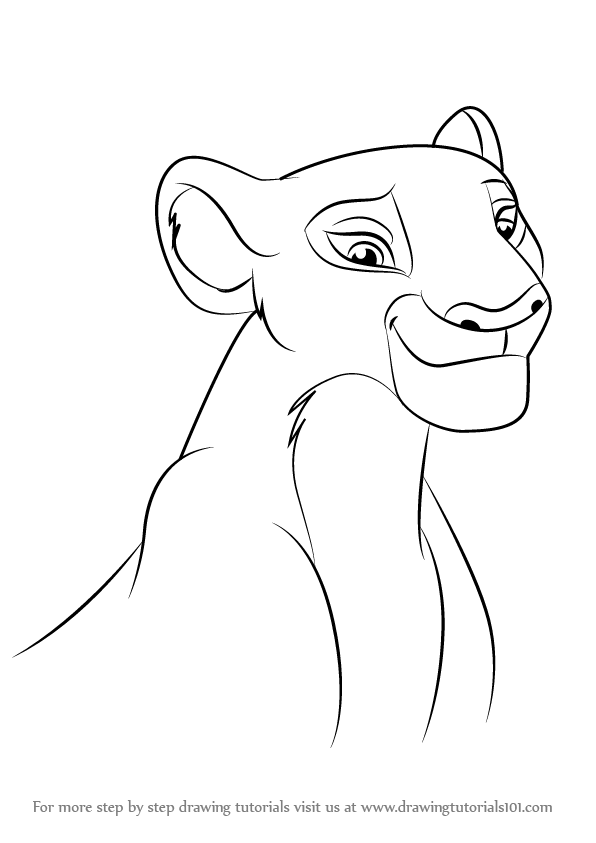 596x843 Learn How To Draw Nala From The Lion Guard (The Lion Guard) Step