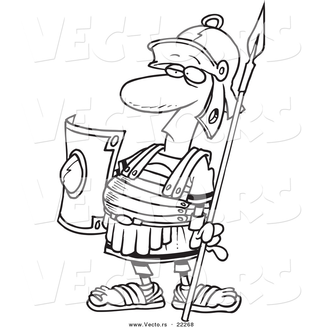1024x1044 Vector Of A Cartoon Centurion Guard