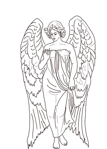 345x480 Guardian Angel Coloring Page Free Printable Pages