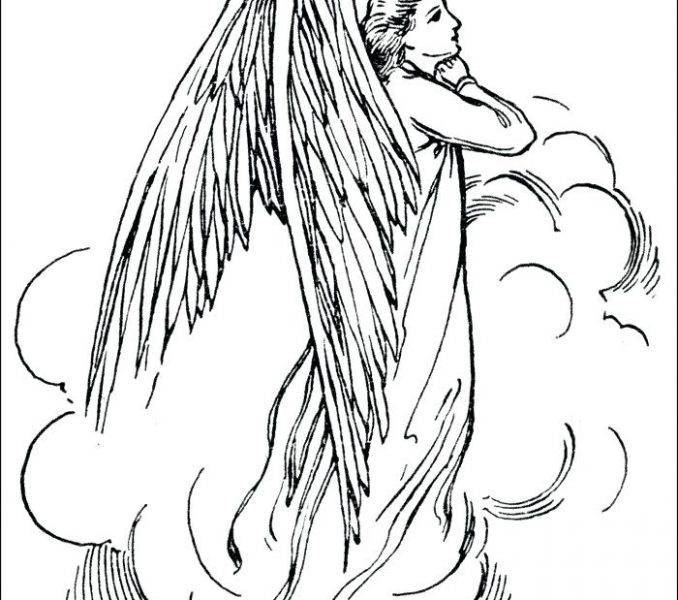 Guardian angel drawing at free for for Guardian angel prayer coloring page