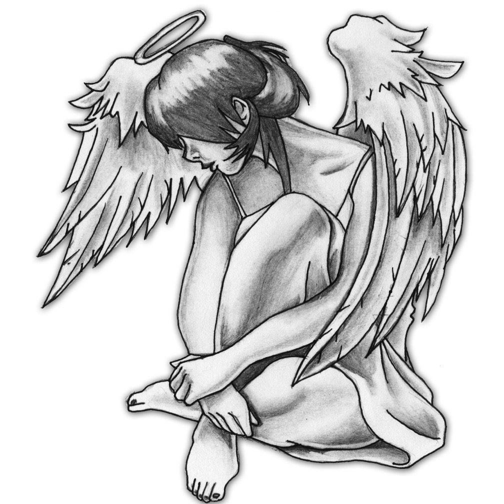 Guardian Angel Tattoo Drawing