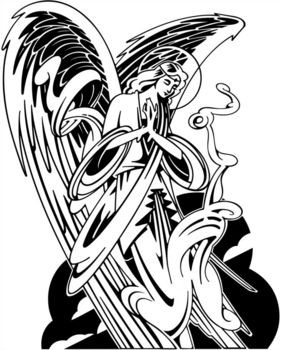 Guardian Angel Tattoo Drawing at GetDrawings | Free download