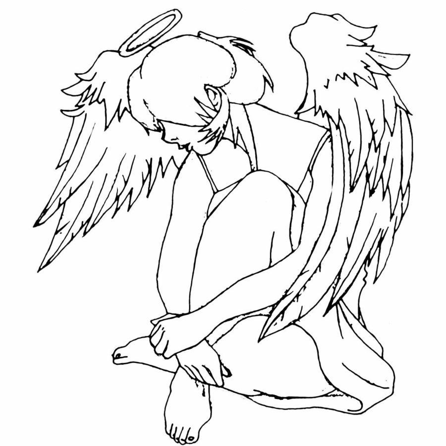 Guardian Angel Tattoo Drawing at GetDrawings.com | Free ...