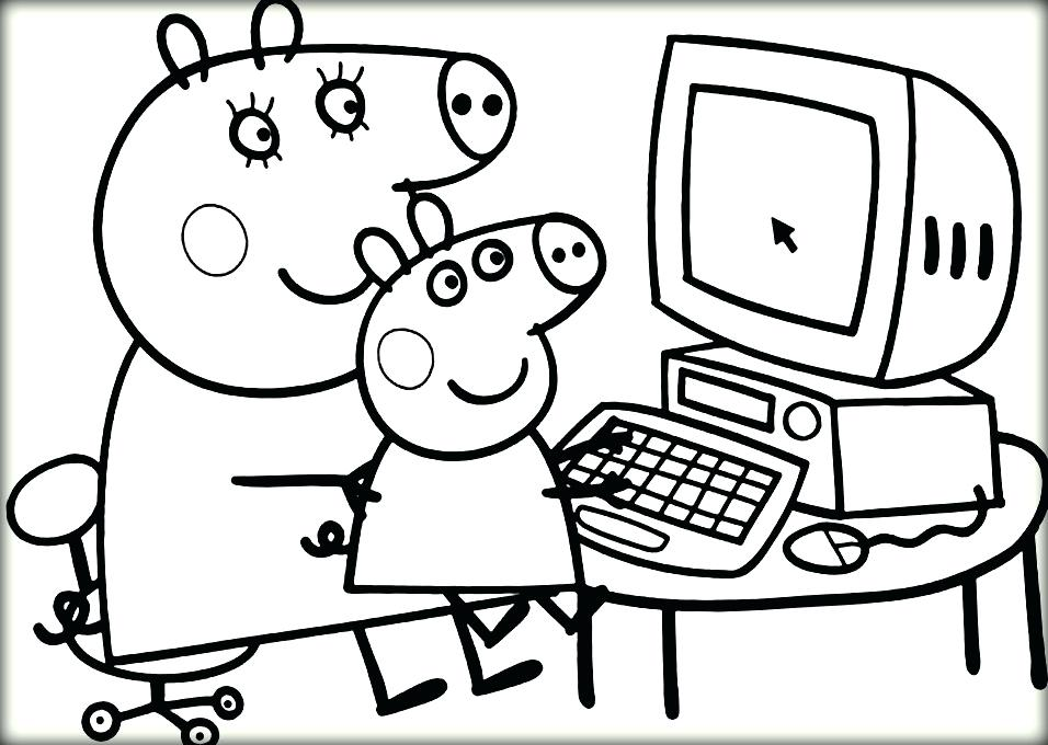 956x680 Pig Coloring Book Coloring Pig Coloring Page Pig Coloring Pages