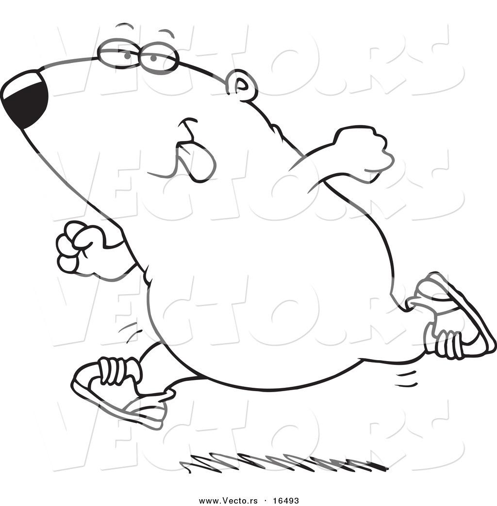 1024x1044 Vector Of A Cartoon Running Guinea Pig