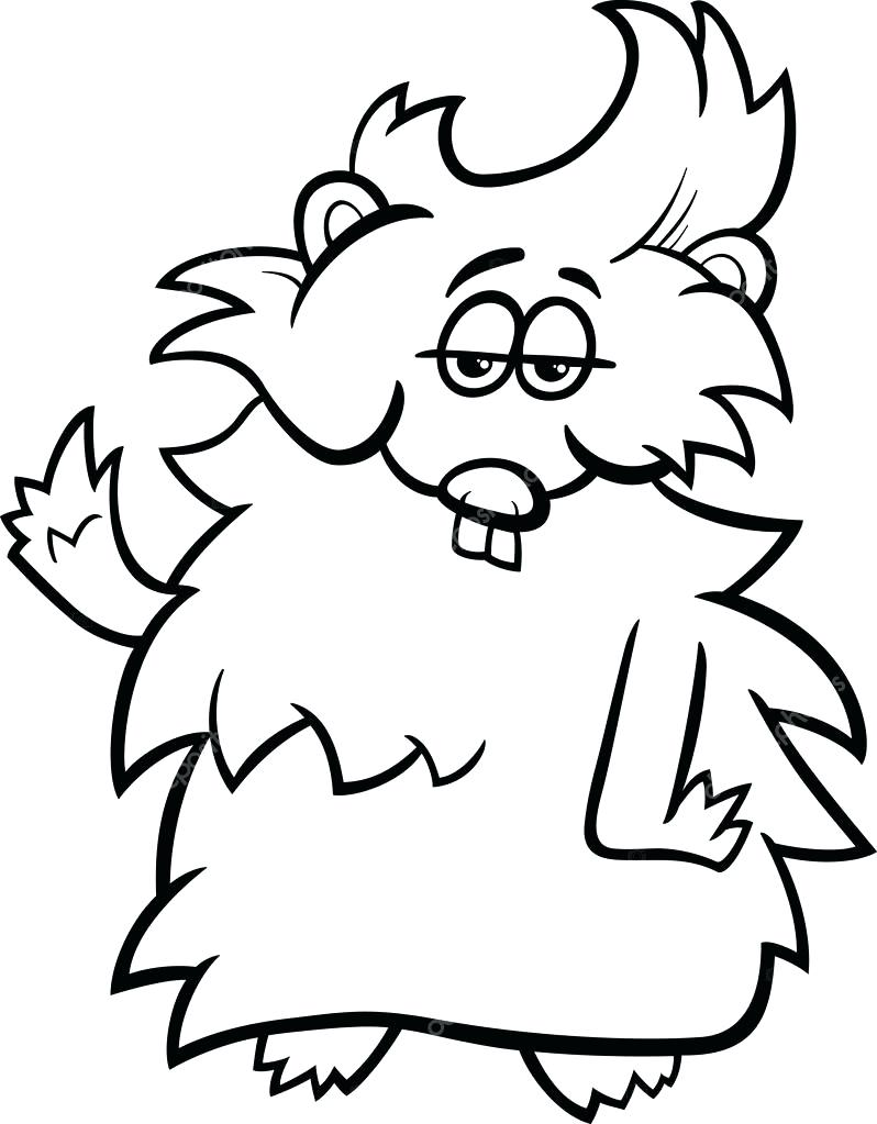 798x1023 Coloring Coloring Pages Of Guinea Pigs Black And White Cartoon