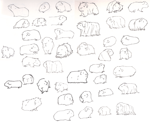 500x405 The Cat And Jetpack (I Have Lots Of Guinea Pigs To Draw. I'M