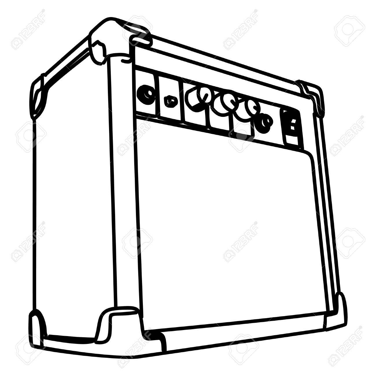 1300x1300 Guitar Amplifier Royalty Free Cliparts, Vectors, And Stock