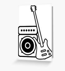 210x230 Bass Amp Drawing Greeting Cards Redbubble