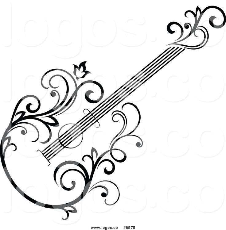 Guitar Art Drawing