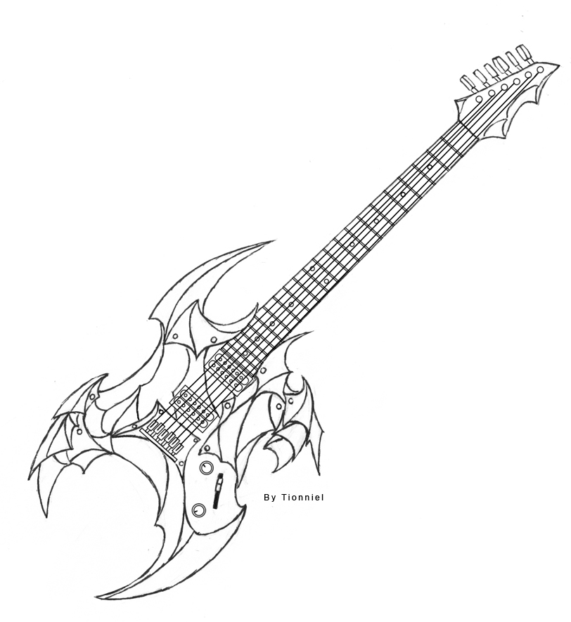 812x885 Electric Guitar Design By Tionniel