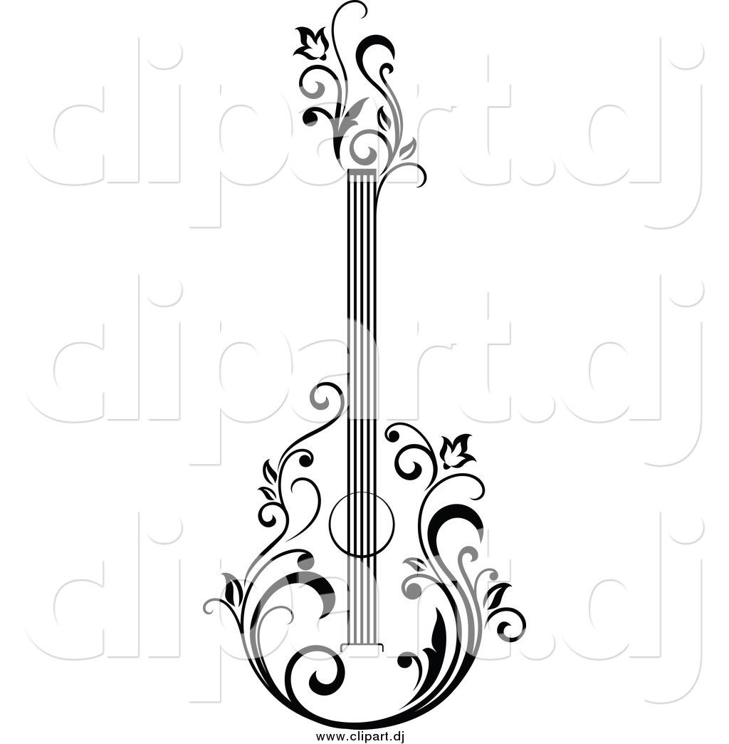 1024x1044 Bass Guitar Art Sketch