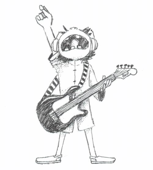 500x555 Guitar Sketch Tumblr