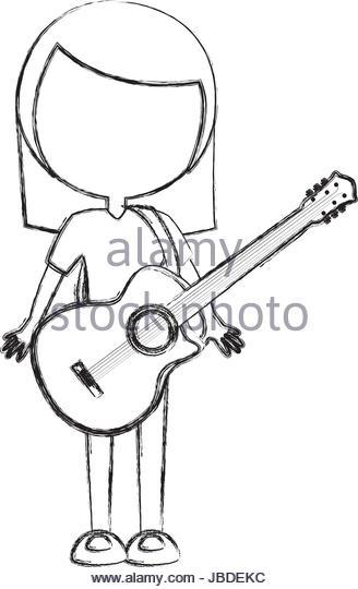 328x540 Acoustic Guitar Sketch Stock Photos Amp Acoustic Guitar Sketch Stock