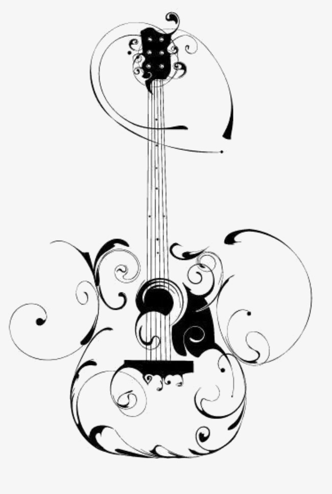650x966 Hand Painted Guitar, Hand Painted, Creative Png Image For Free