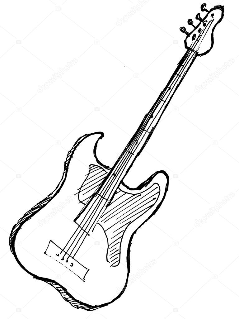 768x1024 Electric Guitar Stock Vector Perysty