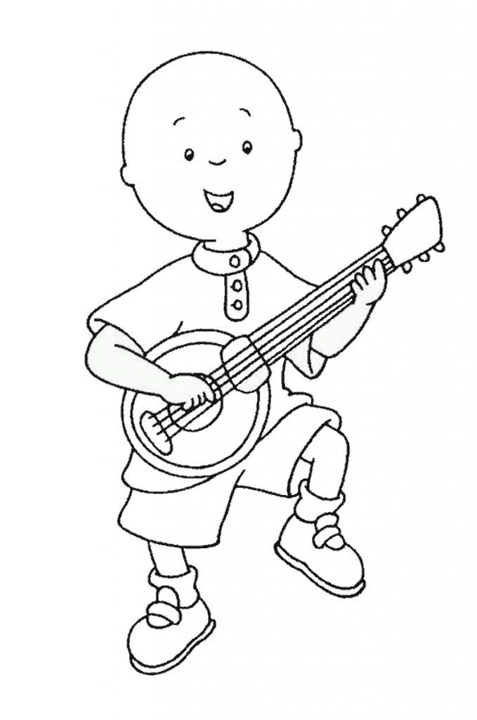 679x1024 Caillou Coloring Pages With Rosie Cartoon Printable Cartoons Free