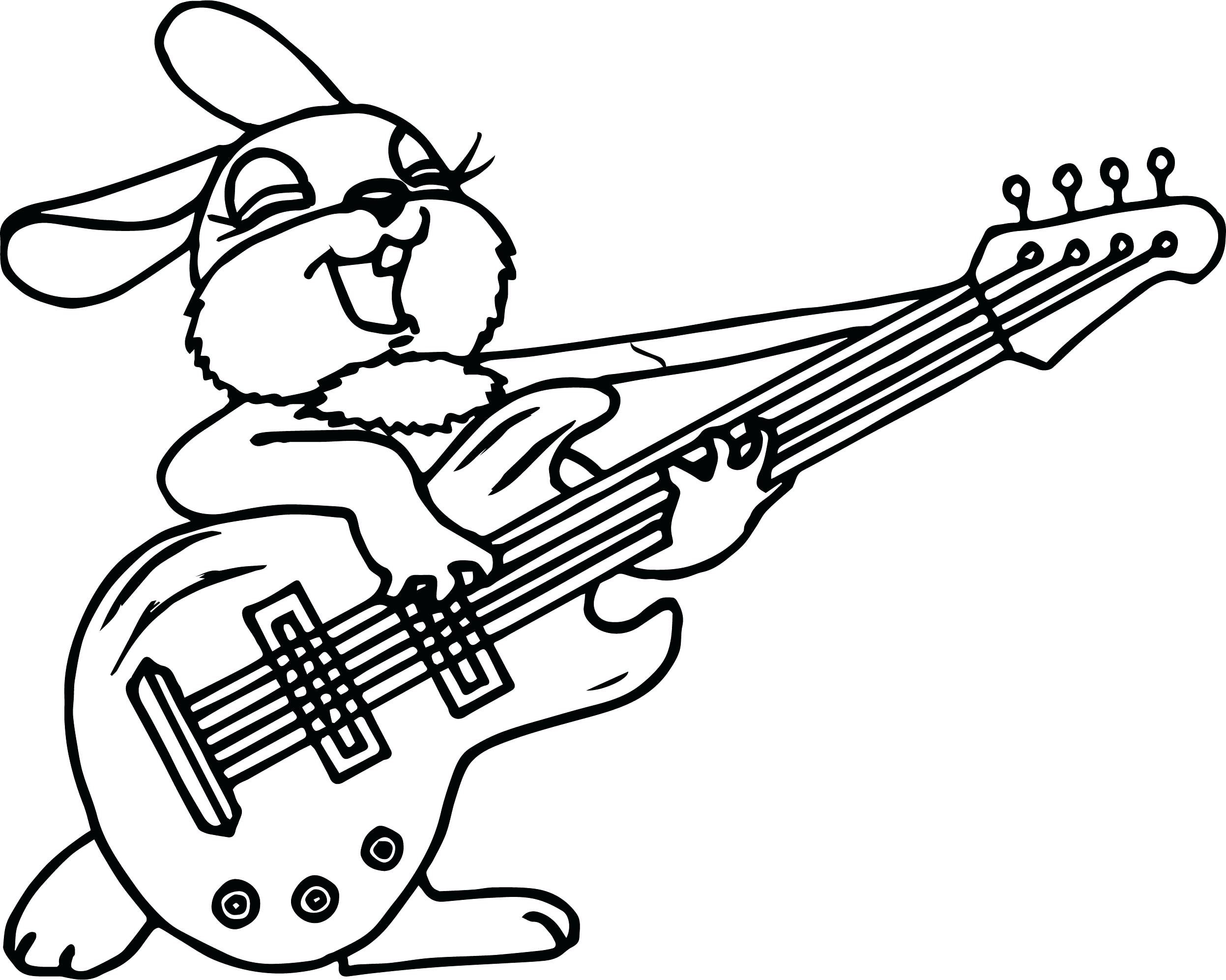 2494x1994 Double Bass Guitar Coloring Pages Acoustic Bass Guitar