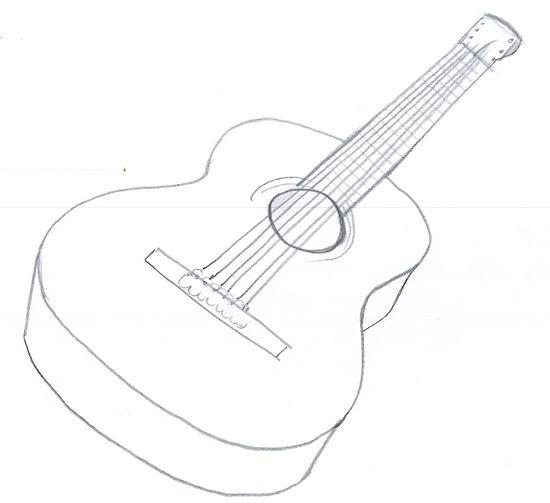550x503 Drawn Guitar Acoustic Guitar