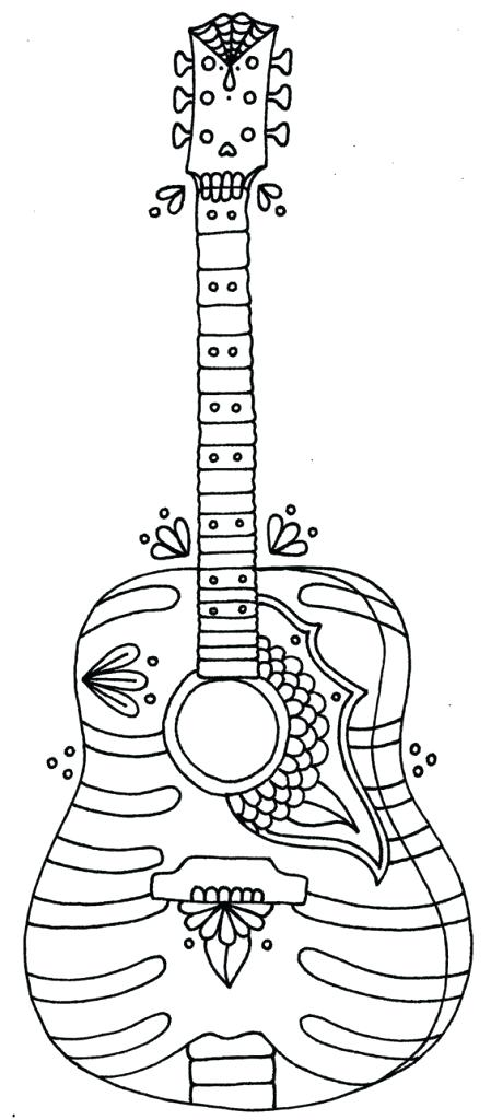 449x1024 Guitar Melody Coloring Pages Printable Best Images On Drawing