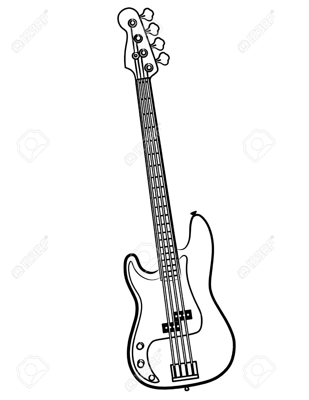 1004x1300 Simple Drawing Of A Guitar A Simple Electric Bass Guitar Line Art
