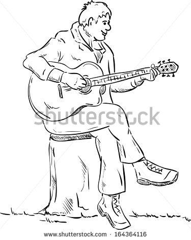 375x470 Drawn Guitar Play Guitar