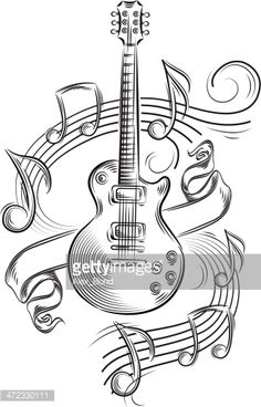 236x368 Guitar Embroidery Design Music Embroidery Designs