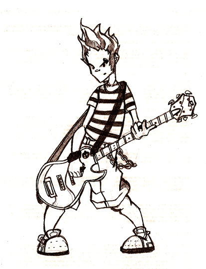 413x538 Me With My Guitar Sketch By Jordihp