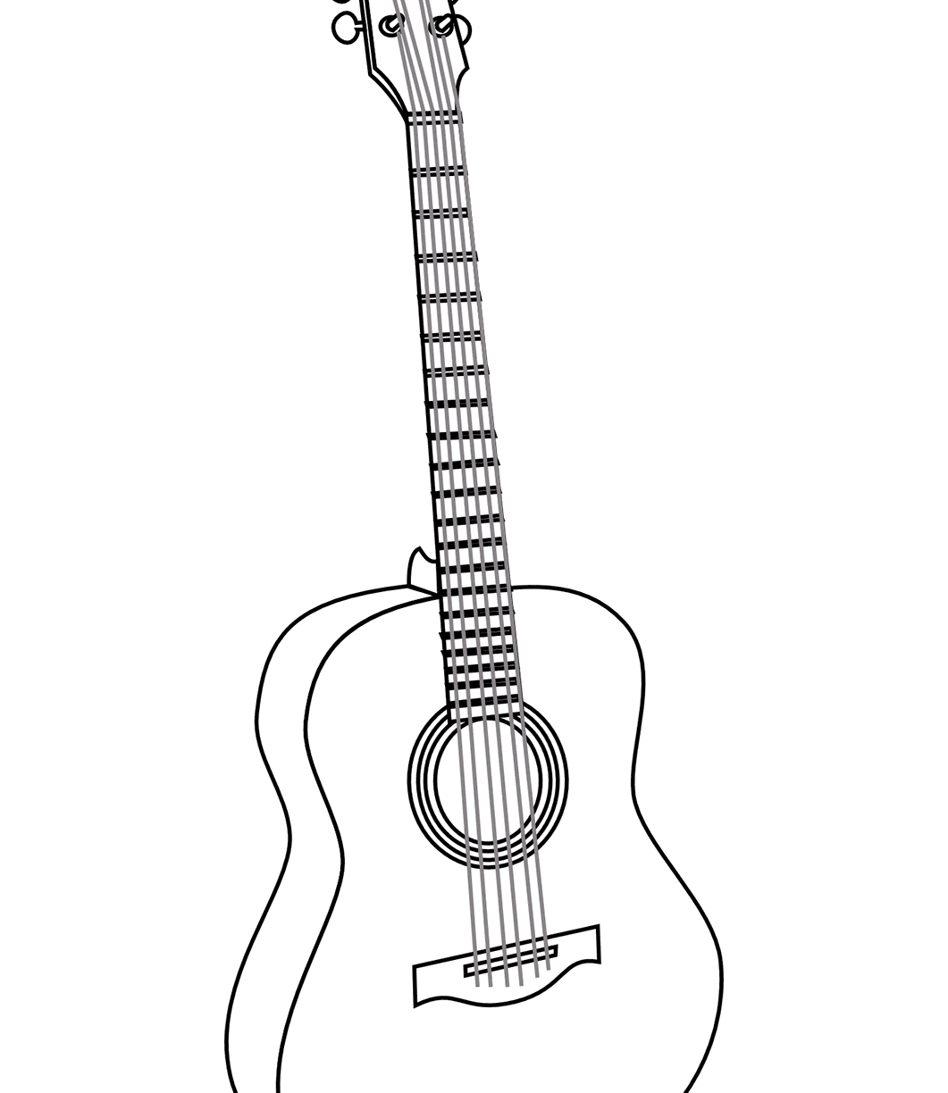 1061x1224 Santa With Guitar Coloring Page Best Pages Printable Free Adult