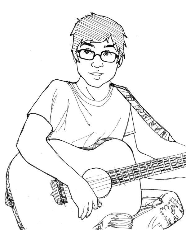 600x739 Brendon Playing Guitar By Kshapiro
