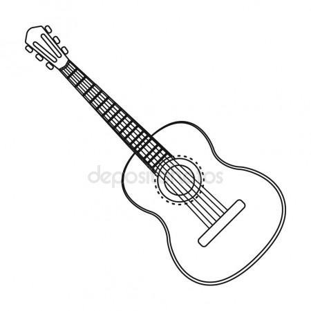 450x450 Classical Acoustic Guitar. Vector Sketch Stock Vector Marinka