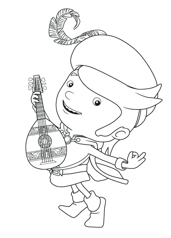 600x834 Wonderful Various Guitar Pictures To Color New Mike The Knight