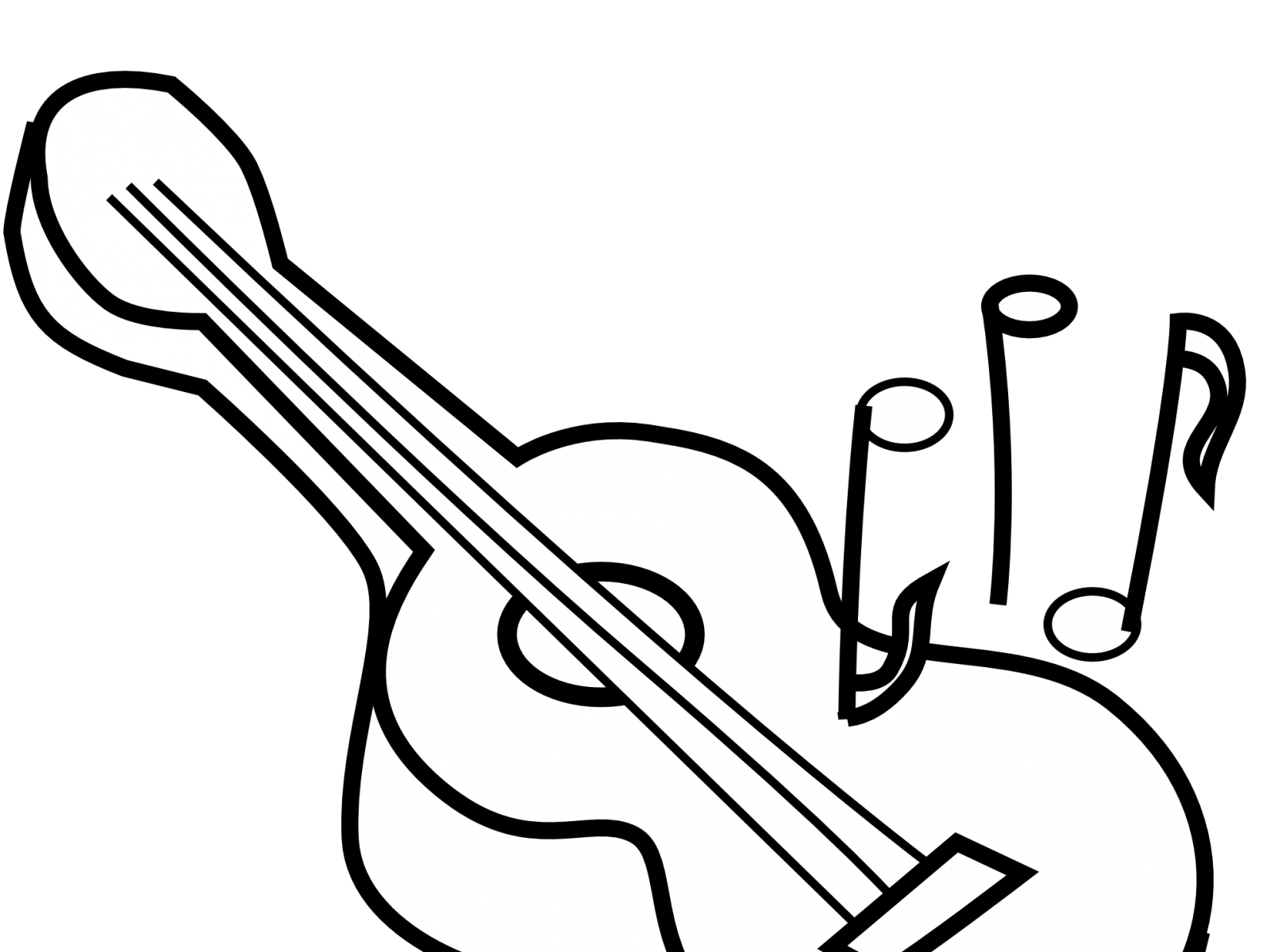 Guitar Line Drawing At GetDrawingscom Free For Personal Use 16 Pick Coloring Pages Best