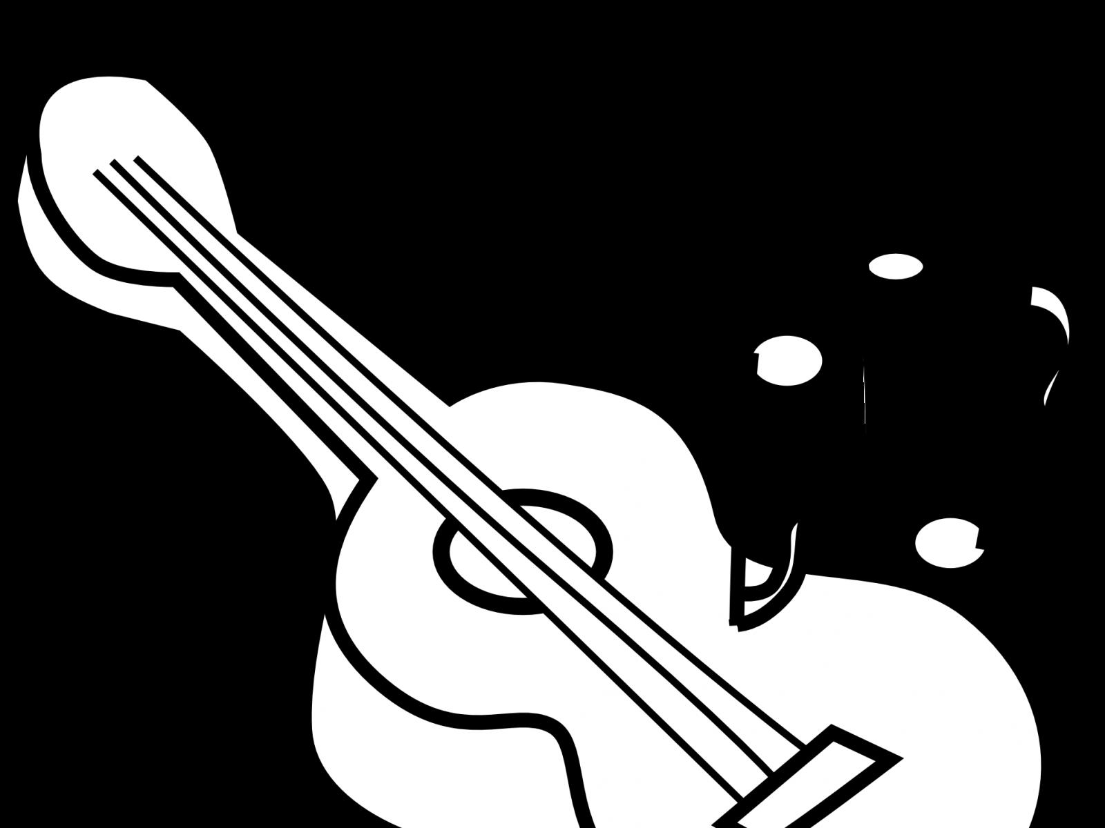 guitar line drawing at getdrawings com