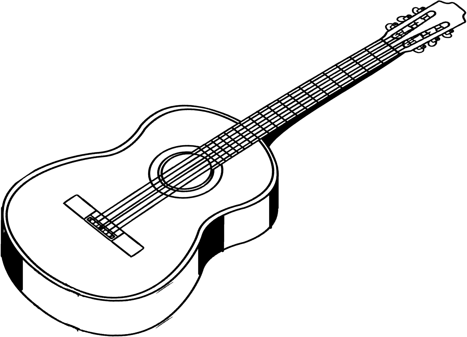 1600x1155 Line Art Of An Acoustic Guitar By IHCOYC On DeviantArt