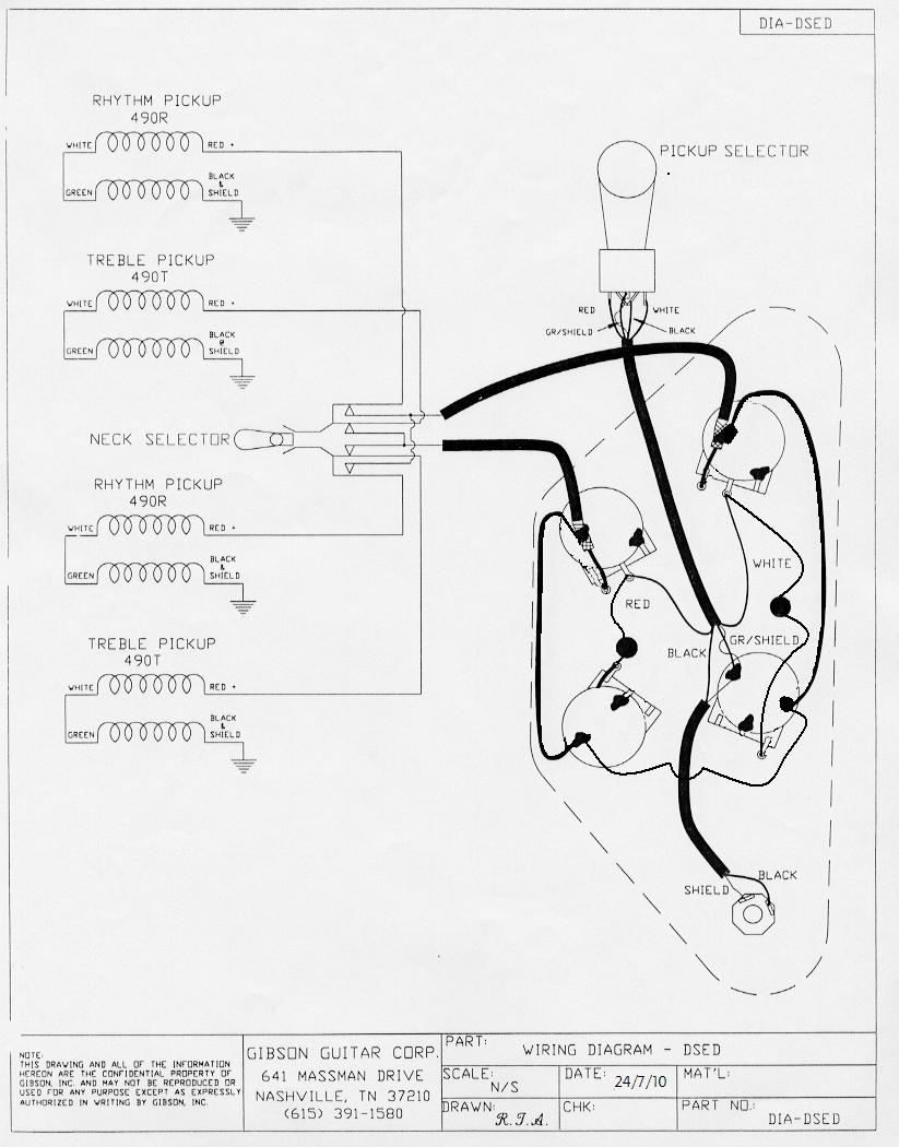 Guibson Double Neck Guitar Wiring Diagram - Database ...