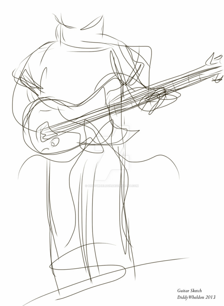 764x1046 Guitar Sketch By Diddywheldon