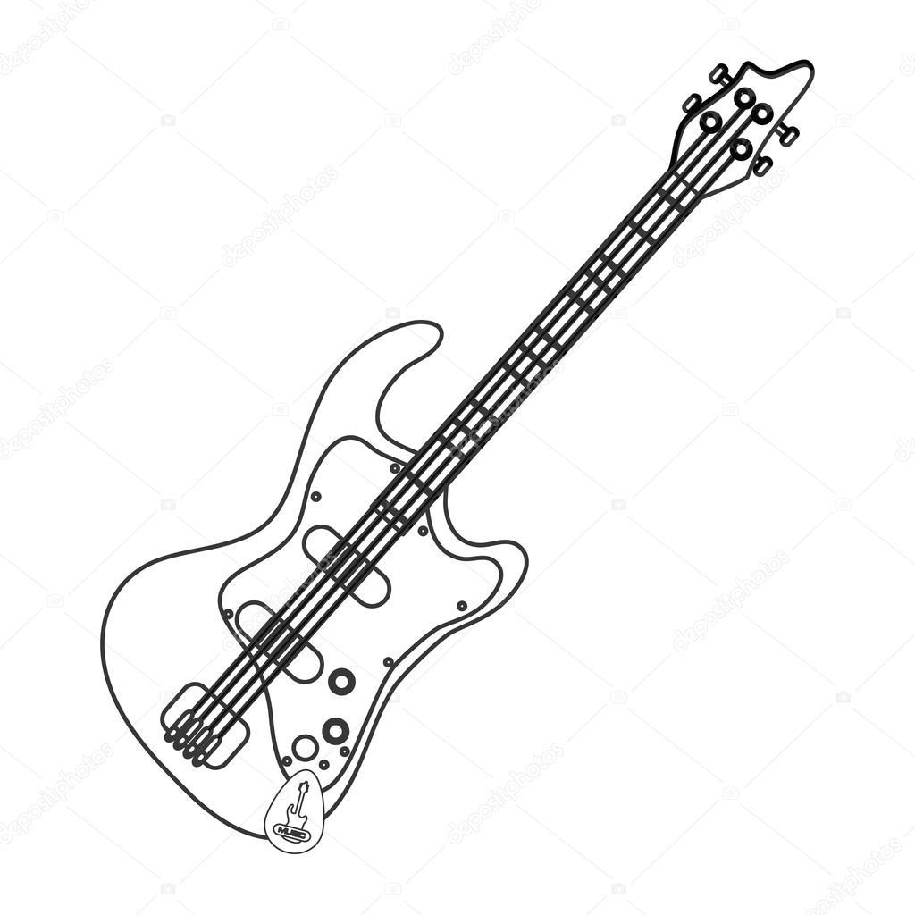1024x1024 Electric Guitar Icon Stock Vector Jemastock