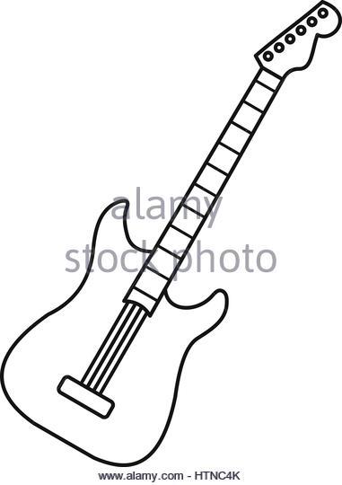 guitar outline drawing at getdrawings com