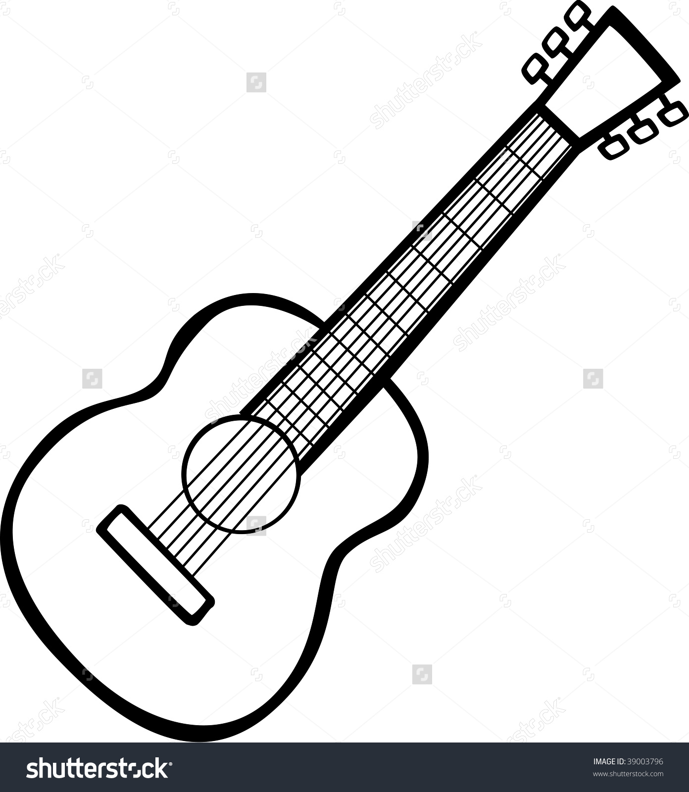 Line Drawing Guitar : Guitar outline drawing at getdrawings free for