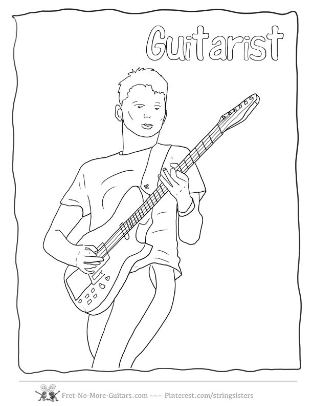 Guitar Player Drawing