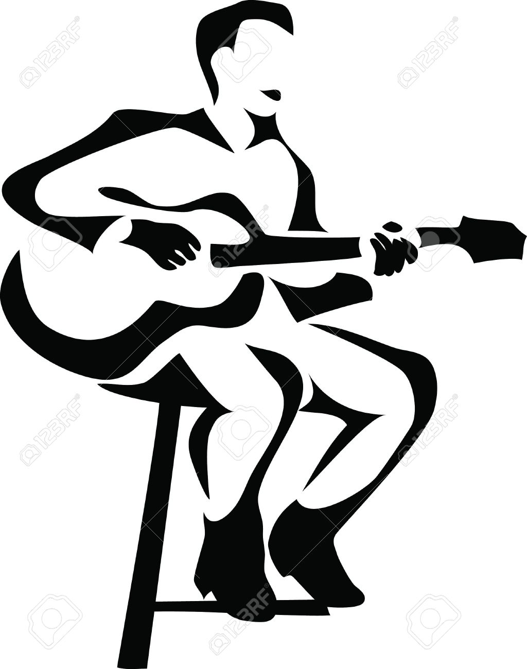 1024x1300 Guitar Player Royalty Free Cliparts, Vectors, And Stock
