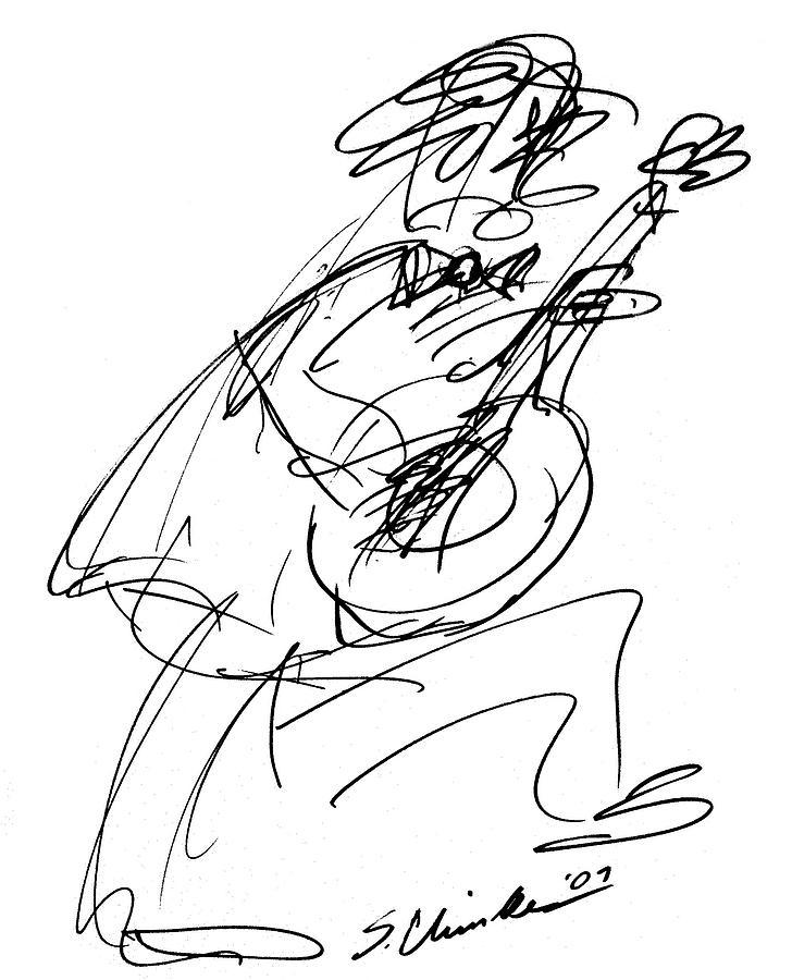 728x900 Master Guitarist Drawing By Sam Chinkes