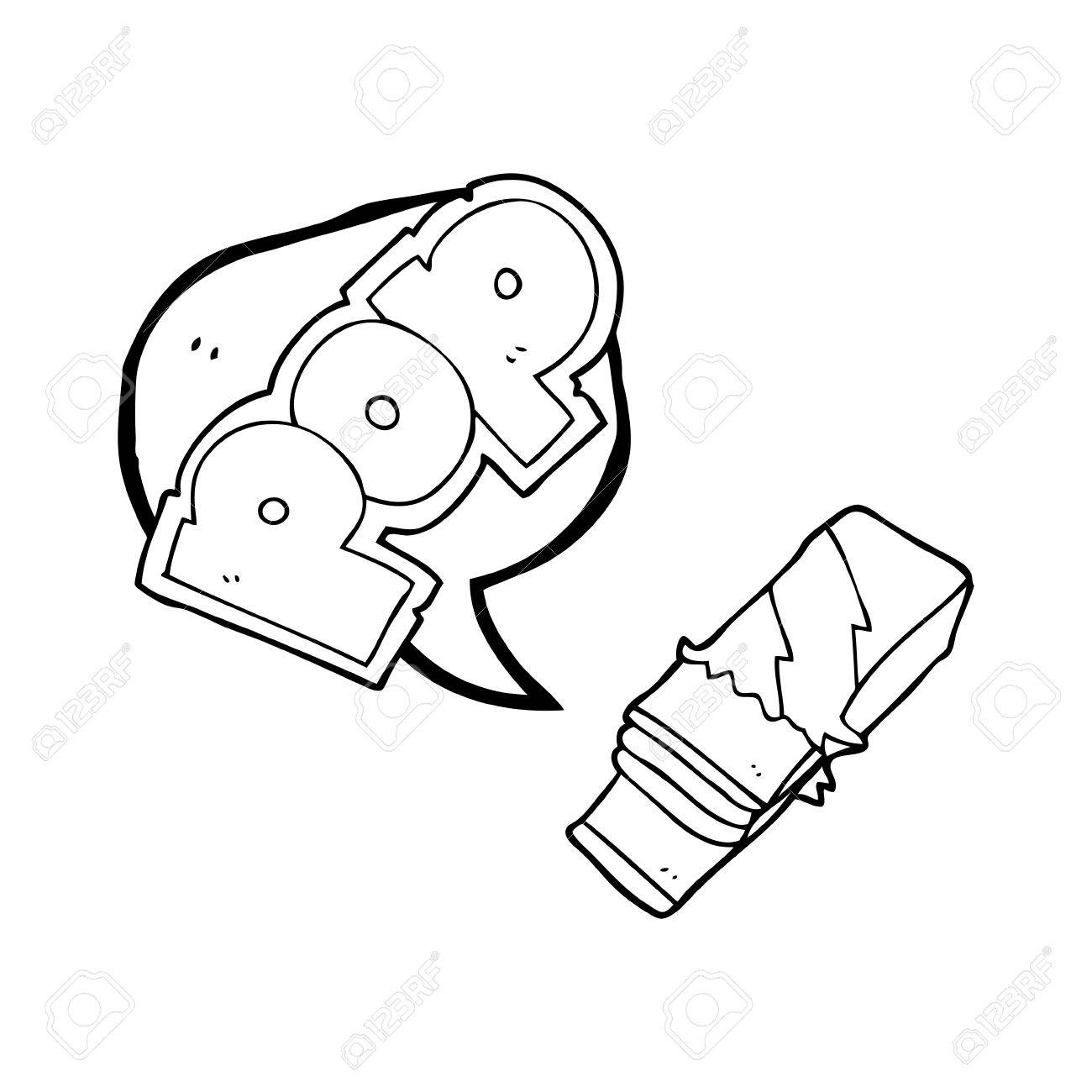 1300x1300 Freehand Drawn Speech Bubble Cartoon Bubble Gum Royalty Free