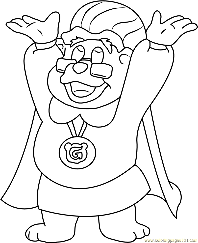 800x981 Adventures Of The Gummi Bears Coloring Page