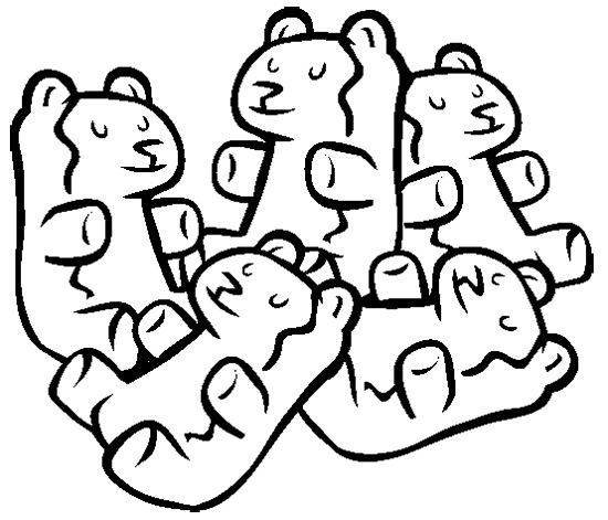 550x471 Gummy Bear Candy Coloring Pages Gummy Bear Coloring Pages Print