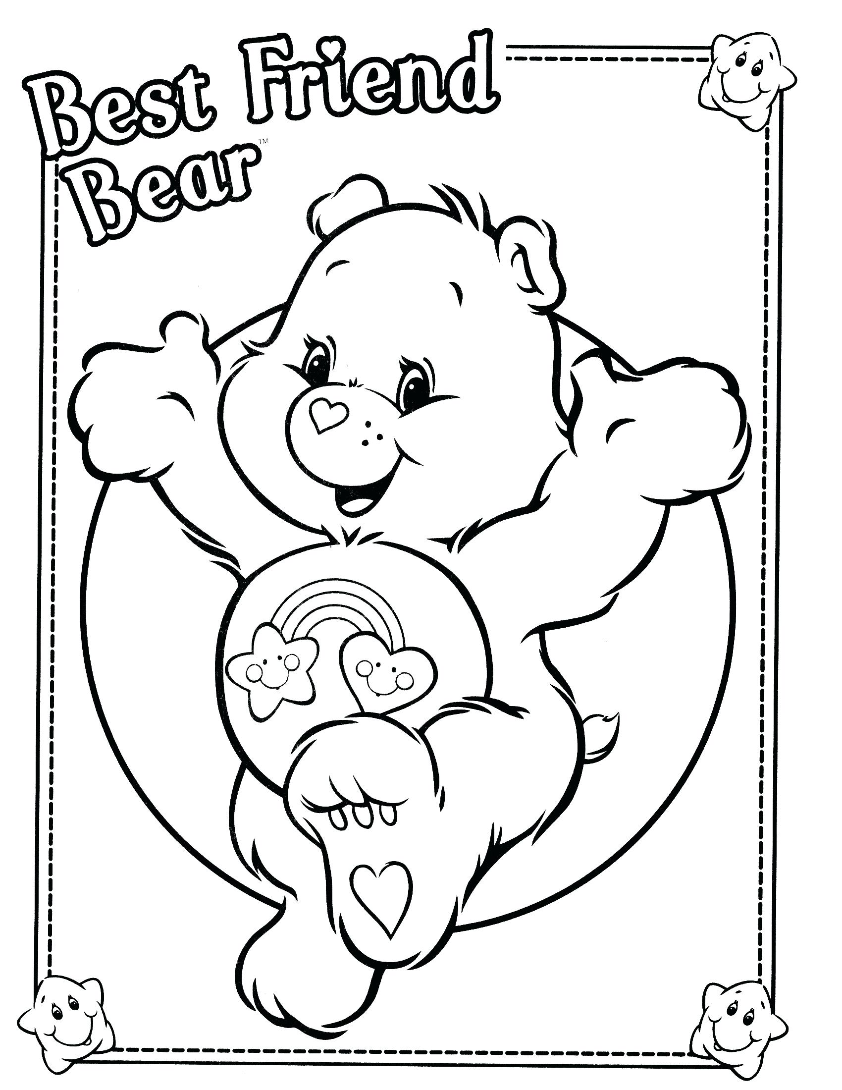 1700x2200 Gummy Bear Coloring Page