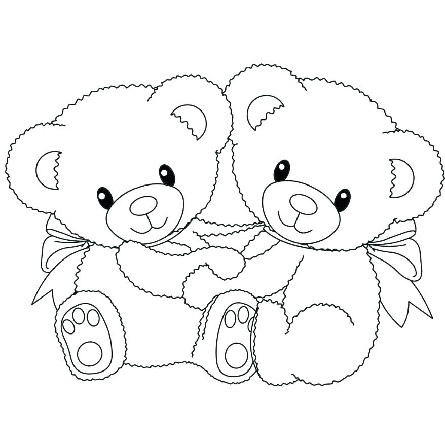 878x878 Gummy Bear Coloring Page