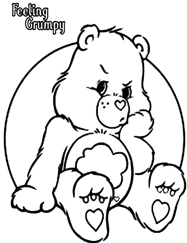600x777 Bears Coloring Pages Care Bears Coloring Pages Grumpy Printable